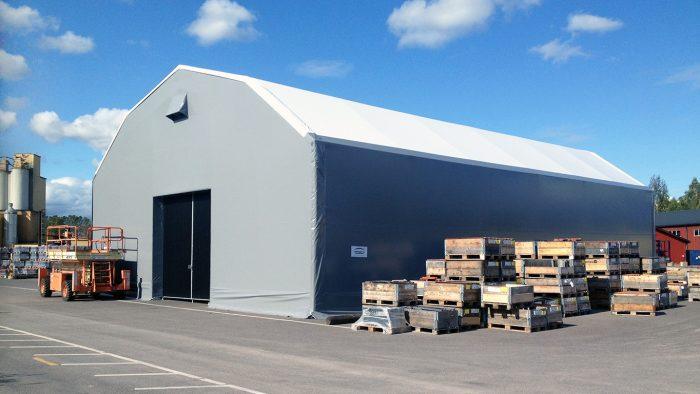 Tälthall 15 meter fungerar som industritält