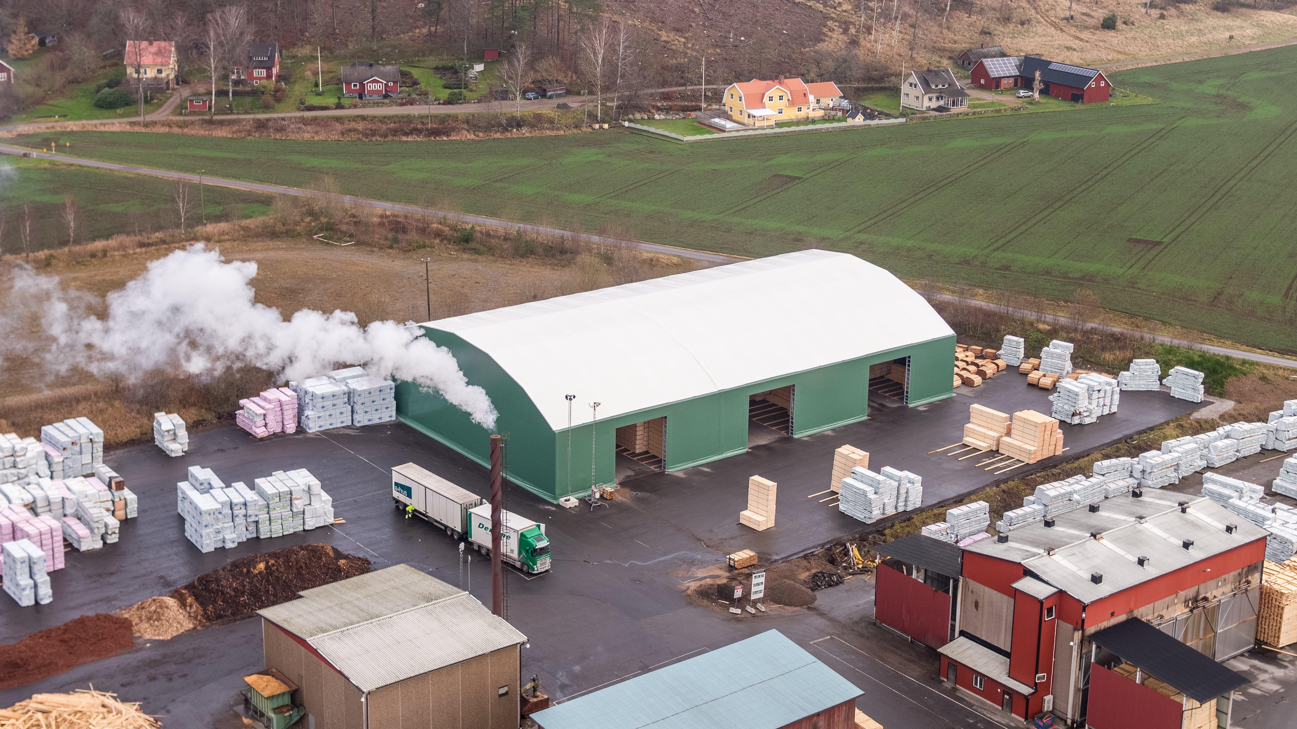 Deromes nya lagertält